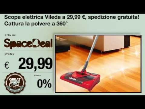 Scopa elettrica vileda youtube for Ricambi scopa elettrica vileda