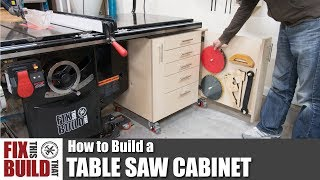 How to Build a Table Saw Cabinet | DIY Woodworking Storage