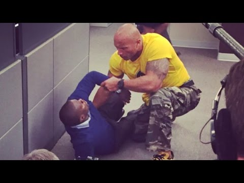 Kevin Hart Almost Kills The Rock On Set - @hollywood
