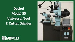 Deckel Model S5 Universal Tool & Cutter Grinder