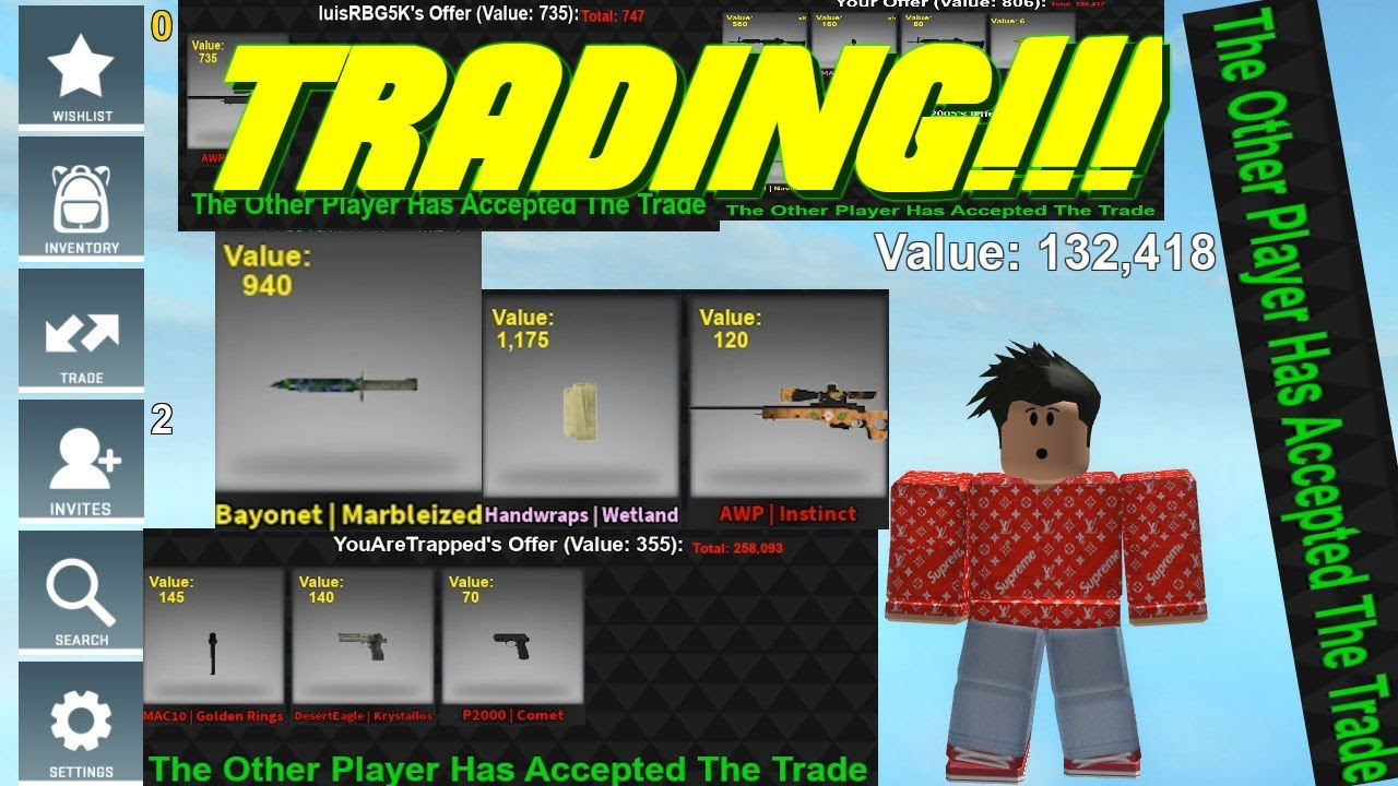 Trading In Counter Blox New Gloves And Knives Youtube