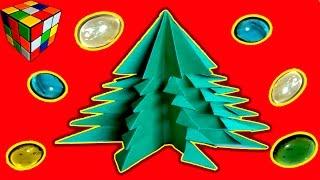 Елка из бумаги. Как сделать елку из бумаги своими руками. Поделки из бумаги(Учимся рукоделию! Как сделать елку из бумаги! Бумажная ёлка своими руками! Всё поэтапно и доступно каждому...., 2015-12-30T15:34:07.000Z)