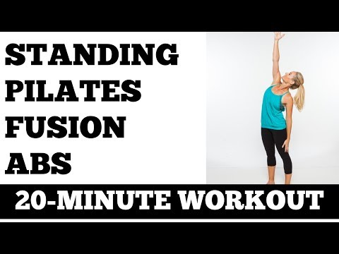 20-Minute Standing Pilates Fusion Abs Workout No Floor Work, Total Body Core and Balance Exercises