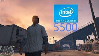 gTA 5 Gameplay Intel HD Graphics 5500  Intel Core i5 5200U (Teste Bem Detalhado) #222