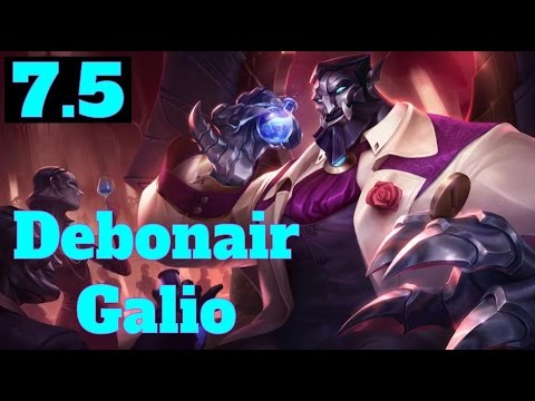 [LoL:PBE] Debonair Galio - Galio Rework Preview - Patch 7.5