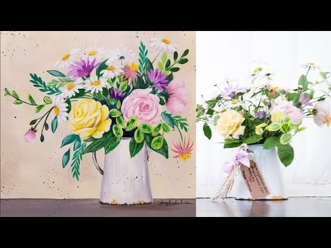 Impressionist Floral (Part 3) Acrylic Painting LIVE Instruction