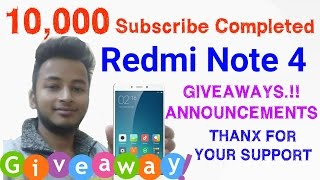 Xiaomi Redmi Note 4 Giveaway  GIFTS FOR MY SUBSCRIBER   Win Redmi note 4