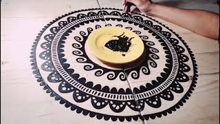 Mandala Tales time-lapse. Painting matching tables with mandala design