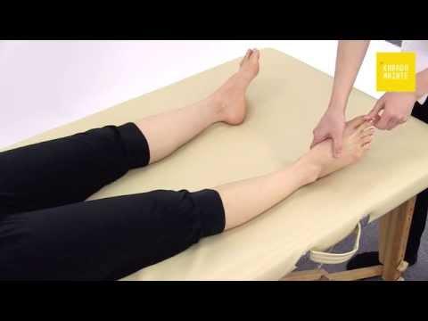 22膝から足の甲のマッサージのやり方(右側)