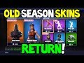 *NEW* Fortnite PAST SEASON SKINS AND EMOTES RETURNING TO ITEM SHOP! (Take The L, The Floss + MORE!)