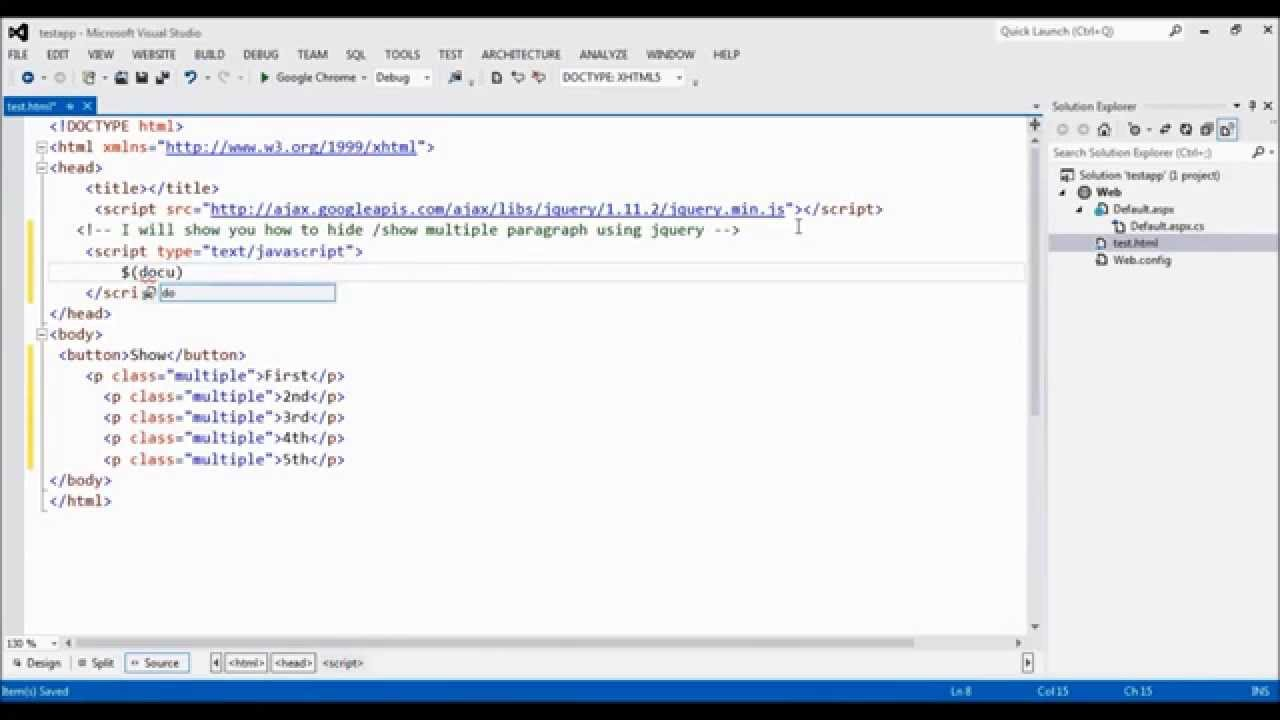 ... multiple paragraph on button click pageload using jquery - YouTube