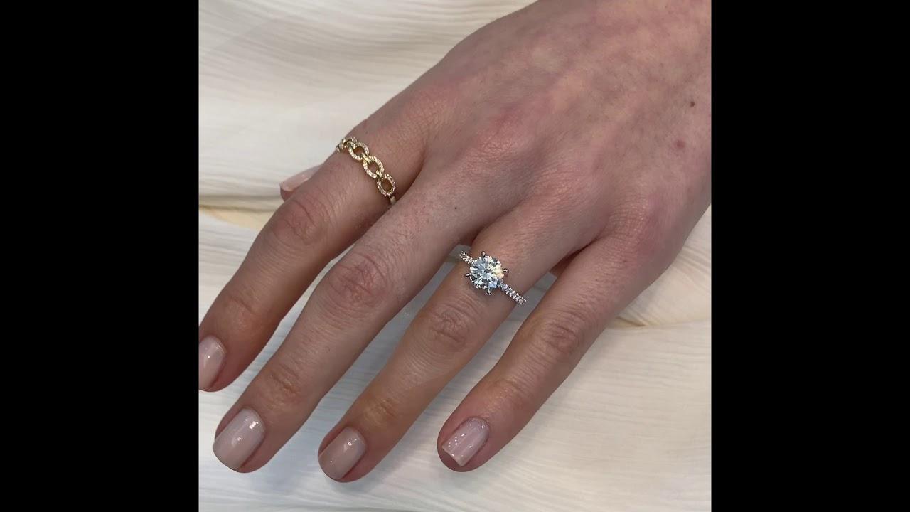 Round VS Cushion VS Radiant Cut Diamond Rings: 1.7 to 1.8 carats
