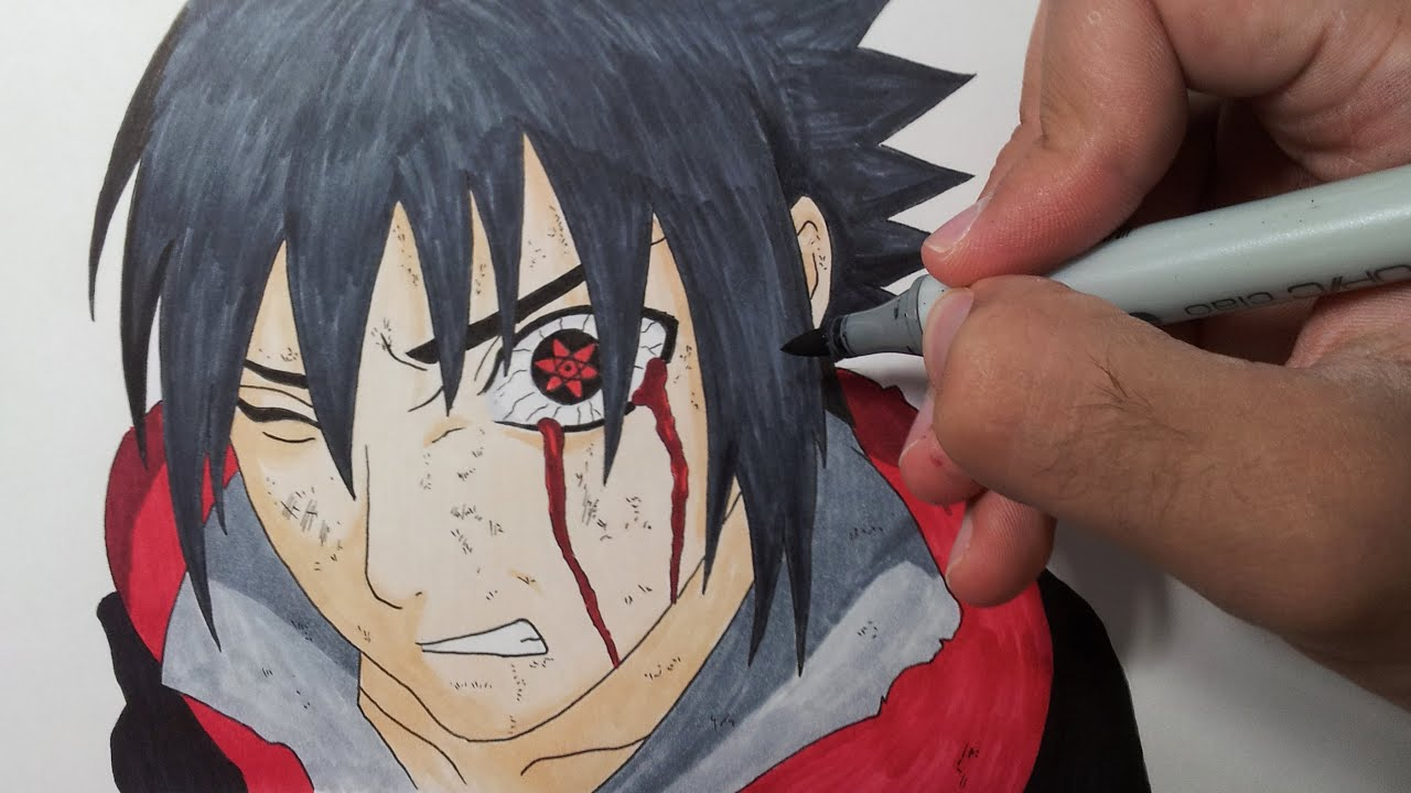 Drawing Sasuke Mangekyou Sharingan Youtube