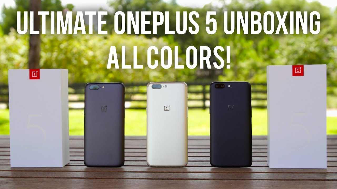 Limited Edition OnePlus 5 Unboxing in ALL COLORS! (Soft Gold) - YouTube