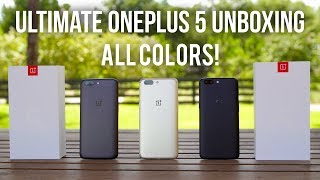 Limited Edition OnePlus 5 Unboxing in ALL COLORS! (Soft Gold)
