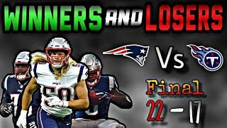 13 Winners and Losers from Patriots win over the Tennessee Titans