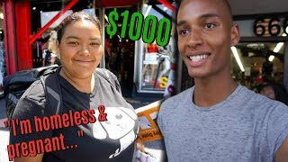 I TOOK A HOMELESS PERSON SHOPPING FOR A DAY! *EMOTIONAL* streaming