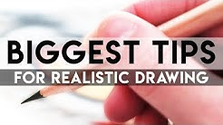 BIGGEST TIPS for GUARANTEED Realistic Drawings