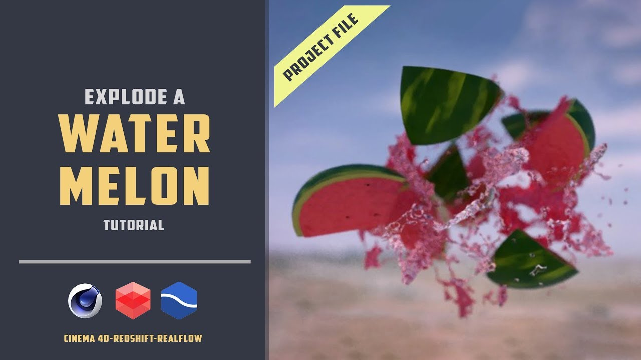 Explode a Watermelon with Realflow and Redshift render