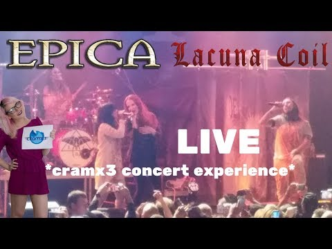 Epica & Lacuna Coil - LIVE Playstation Theater New York City, NY 9/29/17 *cramx3 concert experience*
