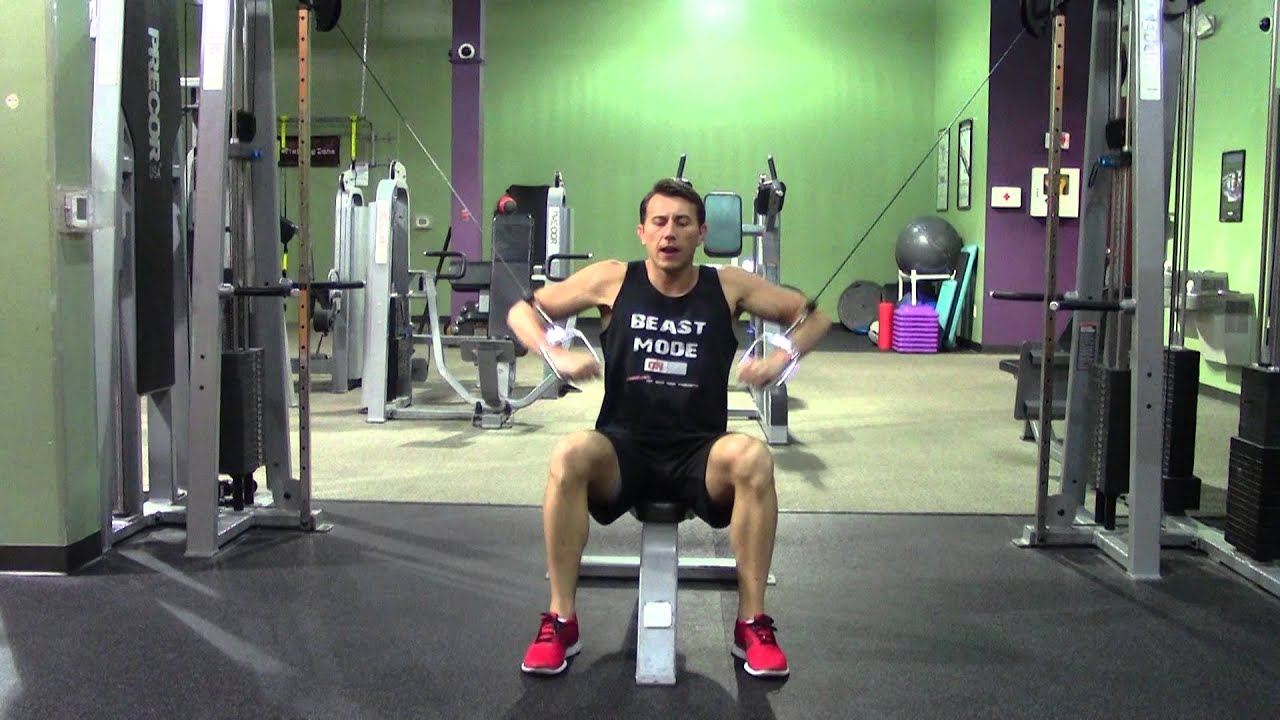 Seated Cable Decline Chest Press Hasfit Lower Chest