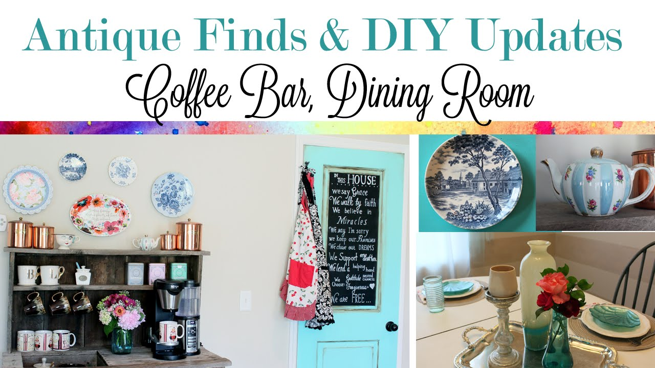 Antique Finds And DIY Updates Coffee Bar Dining Room