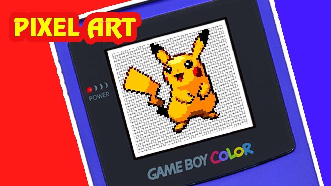 Tuto Pixel Art Pokemon Pikachu How To Draw Pikachu Comment Dessiner Pikachu