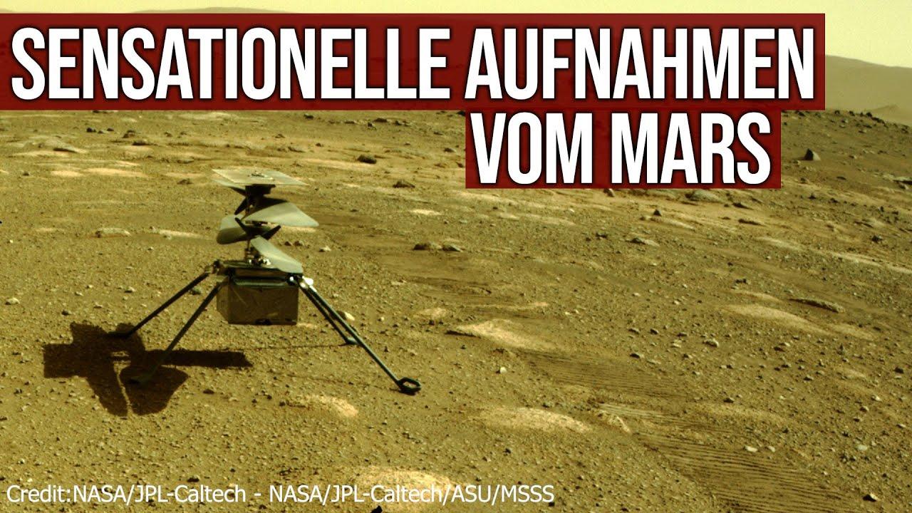 Sensationelle Aufnahmen vom Mars - Zweiter Flug Copter Ingenuity