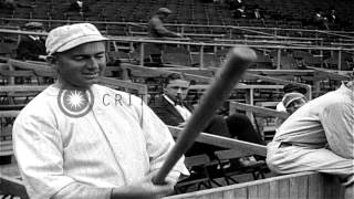 1917 World Series game one: The Chicago White Sox versus the New York Giants from...HD Stock Footage
