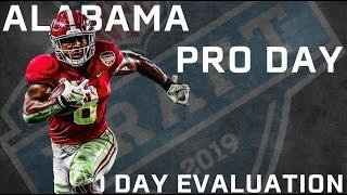 2019 NFL Draft: Alabama Pro Day & Josh Jacobs Player Comparison | PFF thumbnail