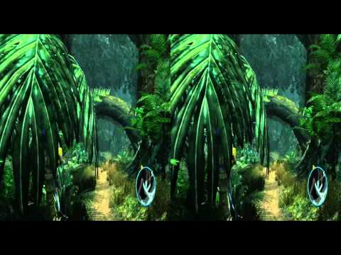 Exclusive Avatar (game) Jungle Gameplay Stereoscopic Side-by-Side 3D