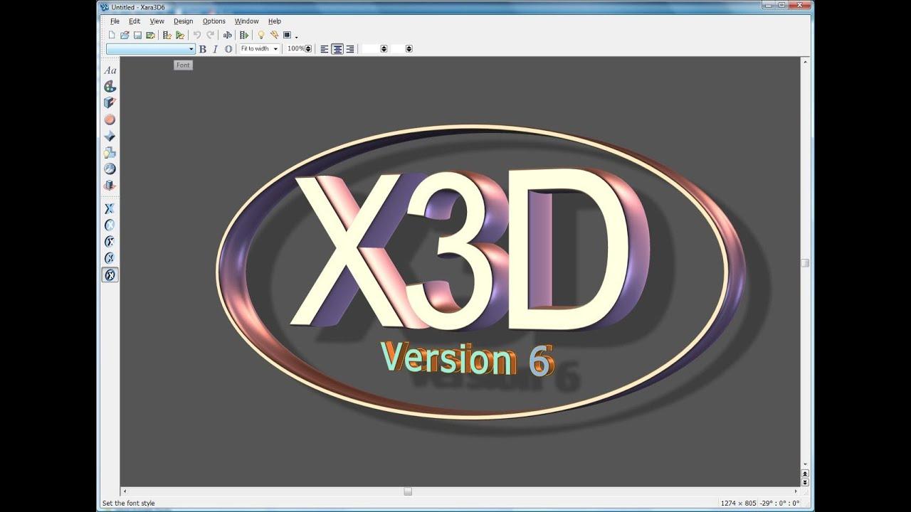 Xara 3d 6 Portable Programa Para Hacer Animaciones 3d Con Movimientologostextos Etc