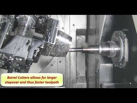 5 Axis Simultaneous Cycle and Barrel Cutters | EDGECAM 2020.0