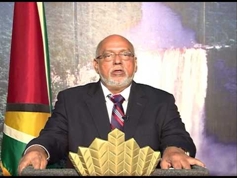 Message from Guyana's President Donald Ramotar