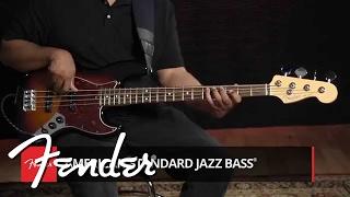 american standard jazz bass demo fender