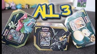 Opening ALL 3 Pokemon TAG TEAM GX Tins!