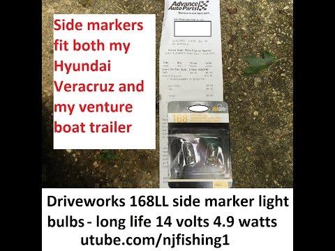 How to replace hyundai veracruz side maker light bulbs? 2 of 2