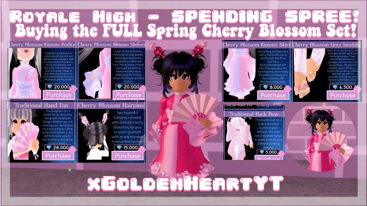 Royale High Spending Spree Buying The Full Spring Cherry Blossom