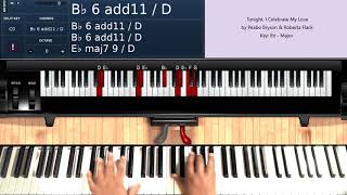 Tonight, I Celebrate My Love (by Peabo Bryson and Roberta Flack) - Piano Tutorial