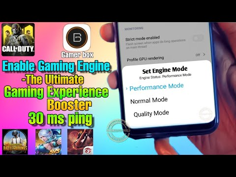 Best Game Booster For Android 2020   Enable Gaming Engine Any Device   Boost Cpu & Gpu Performance