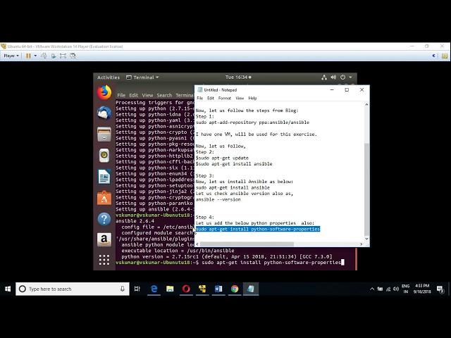 23 DevOps: How to install Ansible on Ubuntu [Linux] VM ? | Vskumarblogs