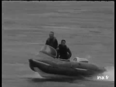 Franchissement de la barre d'ETEL 1967  Georges Hennebutte et son Espadon PNEUBOAT