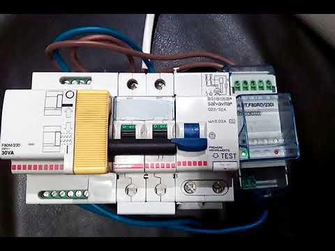 Schema Collegamento Differenziale Magnetotermico : Interruttore differenziale a riarmo automatico bticino youtube