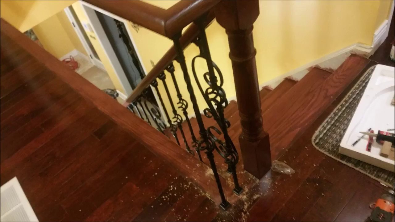 How To Install Hardwood Stairs With Metal Spindles