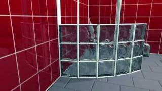 BLOCK LOCK 360 sistema de montaje pared curvada con bloques de vidrio