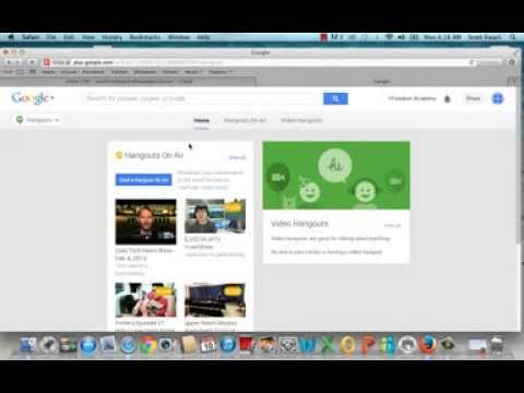 How To Setup and Run a Google Hangout 2014