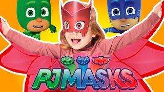 Герои в масках Кэтбой Гекко Алетт Маски для детей PJ MASKS Catboy Gekko Owlette PJ Masks Superhero