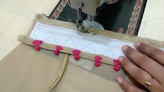 Potli Salwar Poncha Design making || Salwar Mohri Design in Easy Way
