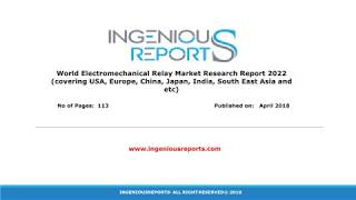 Electromechanical Relay Global Market Research, Trends and Share Analysis