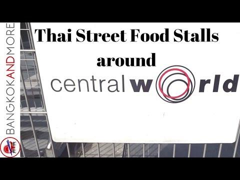 Central World Bangkok - Thai Street Food Stalls at the Plaza - A walk through.